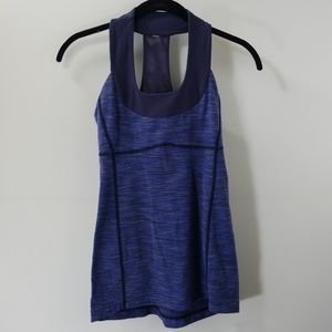 Lululemon Athletica Navy Striped Tank Top